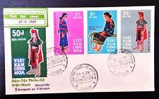 FDC VIET NAM   - INDOCHINE  stamp-  DAN TOC THIEU SO -  1969