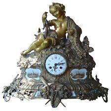 pendule Napoléon III en bronze doré sur le thème de la mer