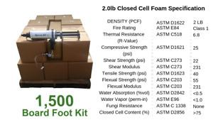 D I Y Spray Foam Insulation Closed Cell  2 lb  1500 board foot kit.