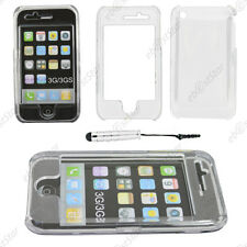 Coque Housse Etui Rigide Transparent Apple iPhone 3GS 3G + Mini Stylet