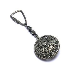 Handmade Filigree Keychain Made of Sterling Silver