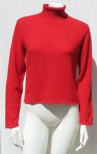 AMORE Women's Red Soft 100% Cashmere Turtleneck Sweater Yop size S Washable