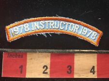 Vtg 1978 INSTRUCTOR Tab Patch ~ Teacher / Trainer 73X4