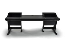Zaor Onda | Angled Studio Workstation Desk with 2x6 RU | Black Finish