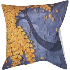 Fashion Cotton and linen Square Pillowses Gray + yellow flowers D2V2 U1O4