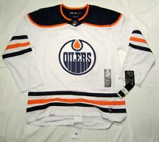 EDMONTON OILERS size 54 = XL ADIDAS NHL HOCKEY JERSEY Climalite Authentic White