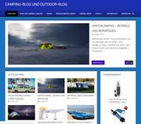 Fertiges Webprojekt, Blog, Nischenseite zum Thema Camping und Outdoor.
