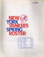 NEW YORK YANKEES 1980 SPRING TRAINING ROSTER Scorecard Program scorebook MLB