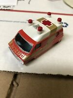 AURORA AFX HO SLOT CAR Red & Gold RESCUE VAN BODY-BRAND NEW OLD STOCK 25 count