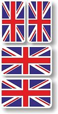 Union Jack flags Vinyl sticker/decal Extra small 45mm & 35mm group of 4