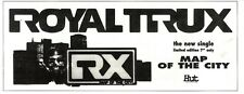 11/2/95PGN10 SINGLE ADVERT ROYAL TRUX : MAP OF THE CITY 4X11""