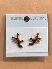Dinosaur Cloisonne Earrings, Archaeopteryx
