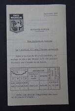 Nouveauté MICHELIN septembre 1955 Aronde tracteur bibendum tyre catalog Katalog