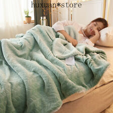 Fleece Blankets and Throws Adult Thick Warm Winter Blanket Home Super Soft Duvet
