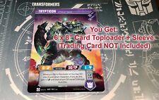 Titan 6x8 Toploader + Sleeve Transformers TCG Trypticon Metroplex Omega