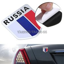 3D Emblem Badge Russia Russian Flag Shield Motorcycle Car Auto Decor Sticker Kit