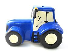 Tractor money box personalised with child's name - Red OR Blue available