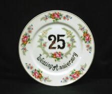Old Vintage 25th Wedding Anniversary Collectors Plate by Norleans Japan