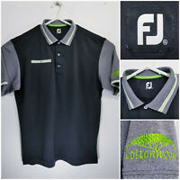 FootJoy FJ Mens XL Golf Shirt Polo Cottonwood GCC Calgary AB Black Polyester