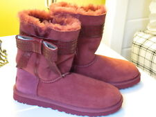 WOMENS UGG BOOTS W JOSETTE SIZE 6 SANGRIA STYLE 1003174