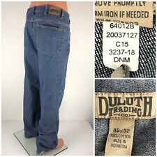 Duluth Trading Co Mens 48 X 32 Jeans 100% Cotton 64012B 20037127
