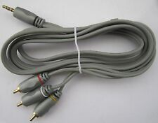 3.5mm 4 Pole Jack to 3 RCA Cable Triple Phono Composite AV Lead Camcorder Camera