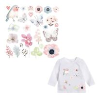 Flowers Birds Patches Heat Transfer Stickers DIY Iron On Clothes