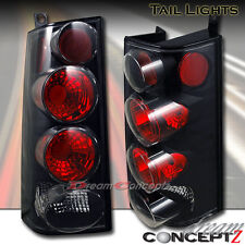 2003-2006 GMC Savana Chevrolet Express Van tail lights lamps black housing pair