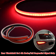 1X Red LED Rear Windshield High Mount 3rd 4th Brake Tail Sequential Light Strip