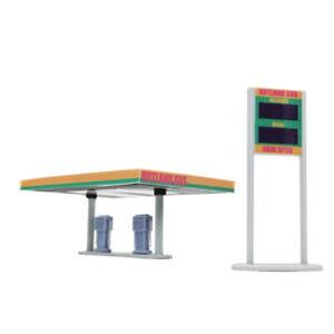 Outland Models Scenery for Model Cars Gas Station 1:64 Gauge
