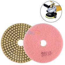 "4"" Wet/Dry Diamond Polishing Pads Grinding Discs Granite Concrete Marble Stone A"