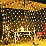 Waterproof LED Net Mesh Fairy String Party Lights Lamp Xmas Christmas Decor Tree