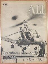 ALI SETTIMANALE AVIAZIONE 3 SETTEMBRE 1951 MALARIA SARDEGNA POSTE AEREE BOMBE
