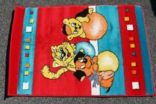 Kid's Carpet Runner Kid's Room Dog Cat Teddy Red 120 x 80 Unused NOS