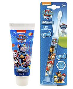 Paw Patrol Flashing Toothbrush  & Toothpaste 75ml Nickelodeon (SET OF 2 )
