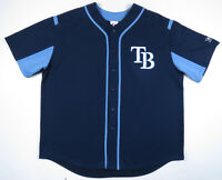 Tampa Bay Rays Majestic Authentic MLB Baseball Blue Sewn Mens Blank Jersey 2XL