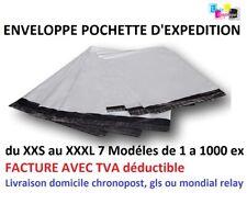 """50 Sacs-Forte 14x21/"""" poly envoi Affranchissement Postal Qualité Self Seal Gris"""