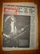 MELODY MAKER 1975 FEB 1 LED ZEPELLIN ELTON JOHN SAYER