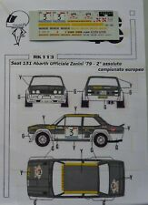 DECALS 1/43 SEAT 131 ABARTH ZANINI 4 REGIONI 1979 RK113