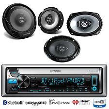 """Kenwood Bluetooth USB CD iPod Radio, Kenwood 2-6.5"""" & 2-6x9"""" Car Audio Speakers"""