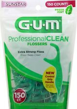 GUM Professional Clean Flossers 150 Ct. Pack of 3
