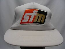 SFM - WHITE - TRUCKER STYLE - ADJUSTABLE SNAPBACKBALL CAP HAT!