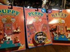 Vintage Hasbro Kitty In My Pocket And 2 Puppy In My Pocket..New