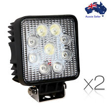 27W CREE LED SQUARE WORK LIGHT BAR FLOOD SPOT OFFROAD DRIVING UTE 4X4 set of 2