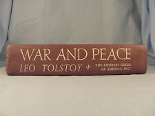 "1949 ""War & Peace"" by Leo Tolstoy, pub. by The Literary Guild, 1st thus edition"
