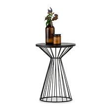 Round Scandinavian Side End Lamp Table BLACK Ash Wood Timber Oak Living Room
