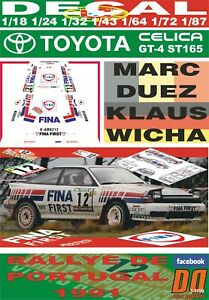 DECAL TOYOTA CELICA GT-4 ST165 M.DUEZ R.PORTUGAL 1991 DnF (06)