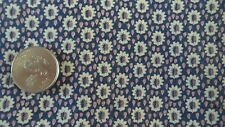 "Vintage Feedsack Feed Sack Fabric SMALL FLORAL ON NAVY WITH PINK DOTS 34""x36"""