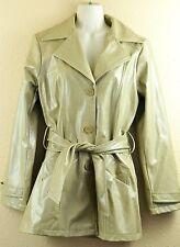 BB Dakota Vegan Leather Jacket Coat Belt Camel Tan M Pret A Porter Faux