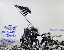 Medal of Honor WWII COMBO SIGNED 11x14 PHOTO MOH D-Day 1st Wave, Big Red One....